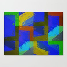 Colorful Truth. Blue. Canvas Print