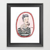 He Is A Cat Person! Framed Art Print