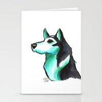 Brush Breeds-Siberian Husky Stationery Cards