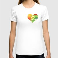 Love In Motion Womens Fitted Tee White SMALL