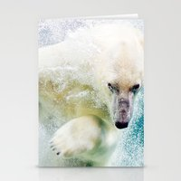 polar bear Stationery Cards featuring Polar Bear by Pati Designs