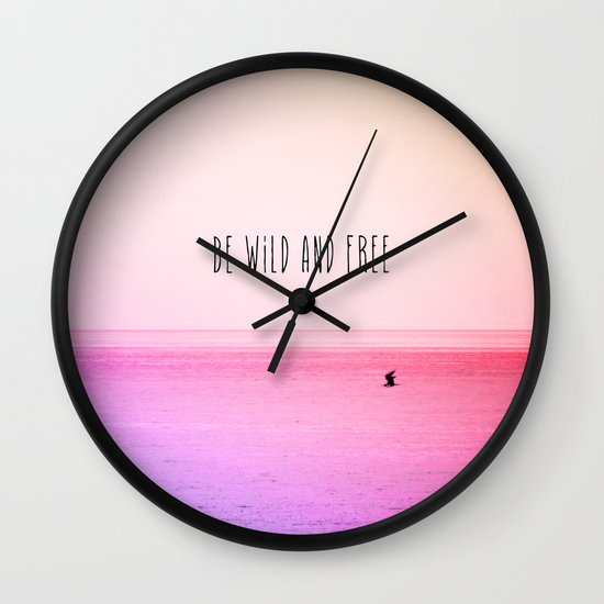 Wild and Free Wall Clock