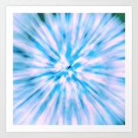 TIE DYE - LIGHT BLUE Art Print