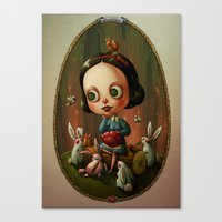 Snow White and a Heart of a Rabbit Canvas Print
