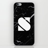 Black Marble - Alphabet S iPhone & iPod Skin