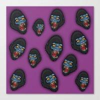 Gorilla Pattern Canvas Print