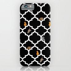 Cats on a Lattice - Black iPhone 6 Slim Case