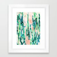 Sunset Cactus Framed Art Print