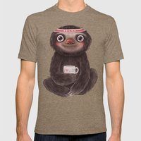 Sloth I♥lazy Mens Fitted Tee Tri-Coffee SMALL