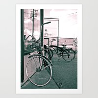 Classy cycles Art Print