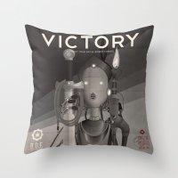 Propaganda Series 9 Throw Pillow