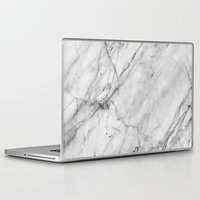Laptop Skins featuring Marble by Patterns and Textures