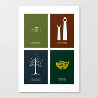 Lord Of The Rings - Comp… Canvas Print