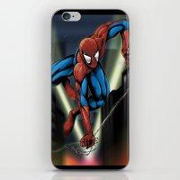 Sharp Spidey Swing iPhone & iPod Skin