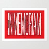 In Memoriam 2015 (Limite… Art Print