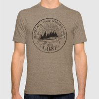 NOT ALL WHO WANDER ... Mens Fitted Tee Tri-Coffee SMALL