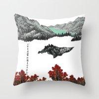 Spring of WuShe Throw Pillow