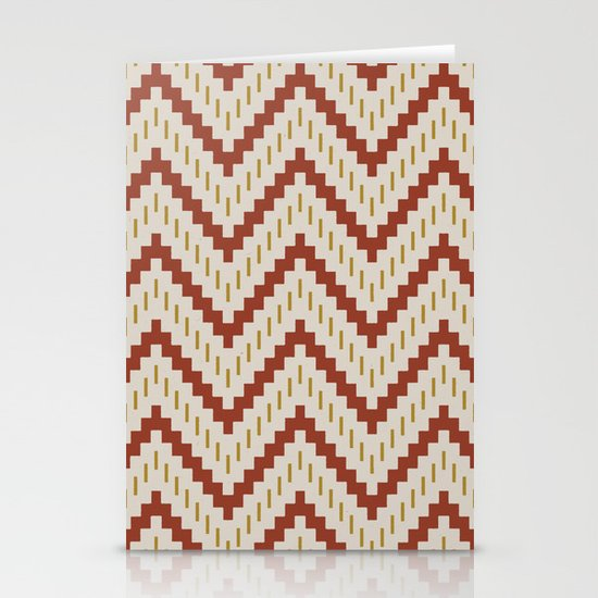 Native-Inspired Pattern  Stationery Card