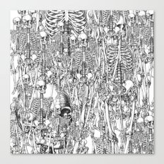 Skeleton Mess Canvas Print