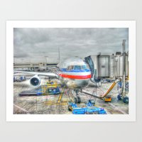 Getting Ready for Takeoff Art Print
