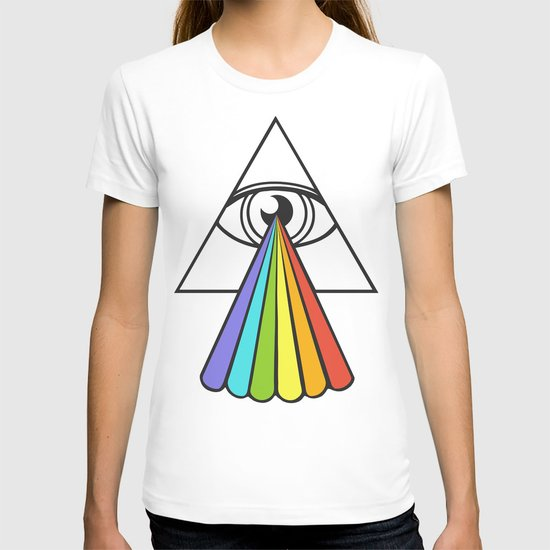 The All-Seeing Dark Side of the Moon T-shirt