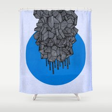 - future grey - Shower Curtain