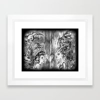 Power Animals Framed Art Print
