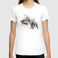 fish T-shirts featuring Fish In Geometrics III by Florent Bodart / Speakerine