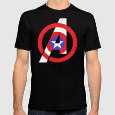 Captain Avenger Mens Fitted Tee Black SMALL