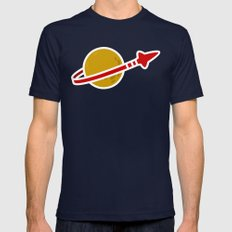 Blue Spaceman Mens Fitted Tee Navy SMALL