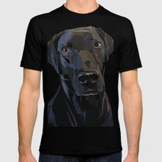 Jeb Lab Dog SMALL Black Mens Fitted Tee