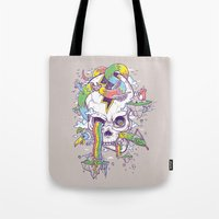 Flying Rainbow Skull Isl… Tote Bag