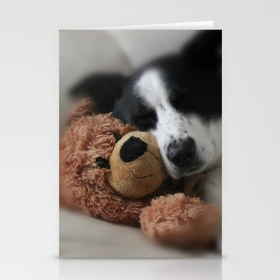 A Dog and his Bear Stationery Card