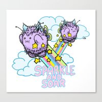 Sparkle and soar Canvas Print
