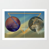 Man to Wolf Art Print