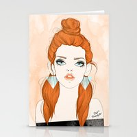 Red-haired girl Stationery Cards