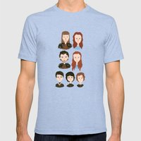 House Stark Mens Fitted Tee Tri-Blue SMALL