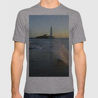 St Marys Lighthouse Mens Fitted Tee Athletic Grey SMALL