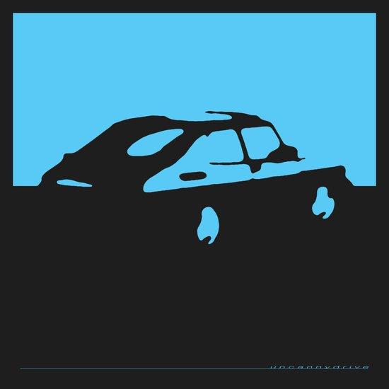 Saab 900 classic, Light Blue on Black Art Print