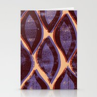 Press print and digital ogee pattern Stationery Cards