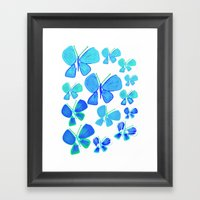 butterflies, butterfly print, butterfly illustration, butterfly pattern, art, print, design,  Framed Art Print