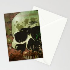floral skull Stationery Cards