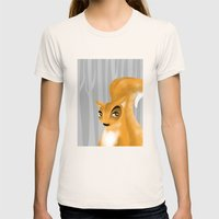 Squirrel Womens Fitted Tee Natural SMALL