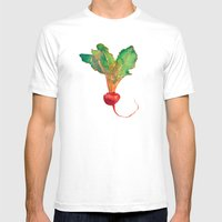 red beet Mens Fitted Tee White SMALL