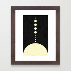 HOME IN THE SOLAR SYSTEM Framed Art Print