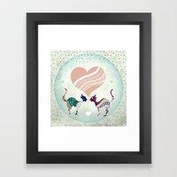 CatLove Framed Art Print