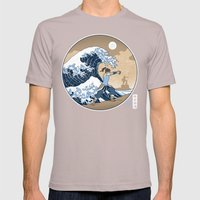 The Great Wave of Republic City Mens Fitted Tee Cinder SMALL