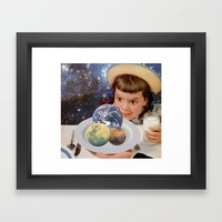 Planet Eater Framed Art Print