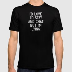 Chat Mens Fitted Tee Black SMALL