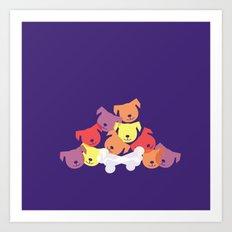 Dog Pile Art Print
